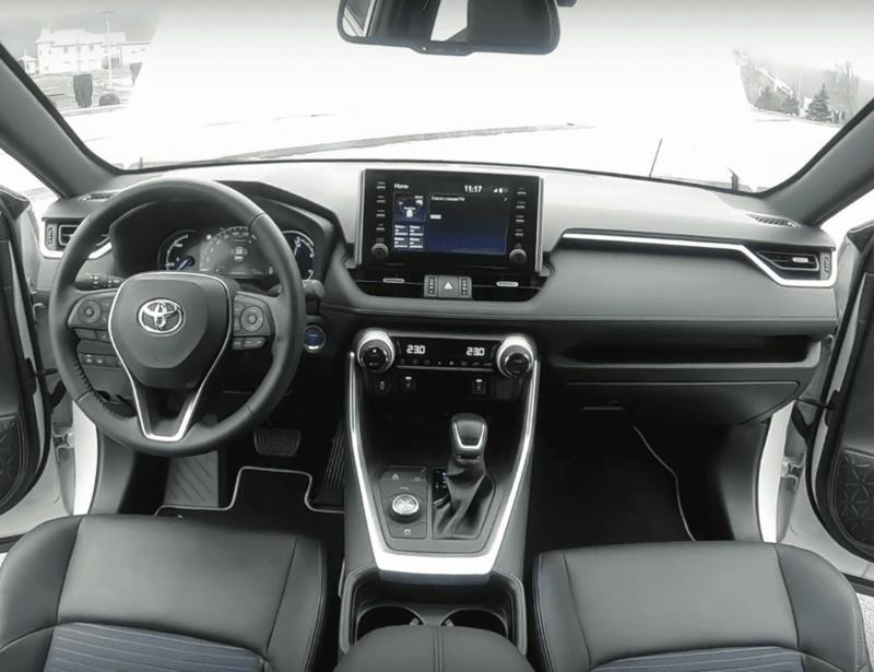 Центральная консоль Тойота Рав 4 2019 гибрид